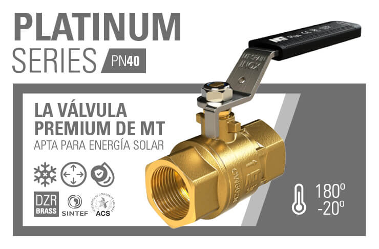 Válvula Platinum Series PN40 MT